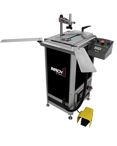 MACH 1 UNI, numeric underpinner (v-nailer), very wide joining stroke (19cm / 7 1/2''), very powerful Ultra Clamps, extremely fast = 3,360 cycles / hour