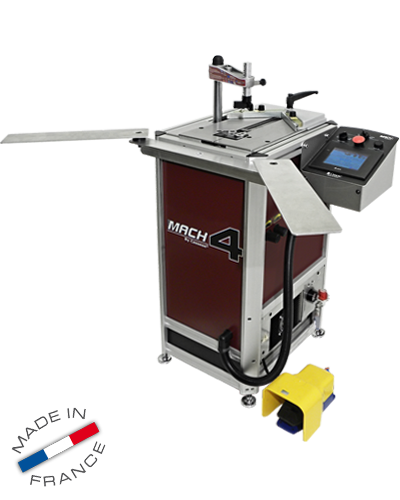 MACH 4 CART, high speed memory underpinner (v-nailer), for wide (19cm joining stroke) and high mouldings (10cm), aluminium structure and components